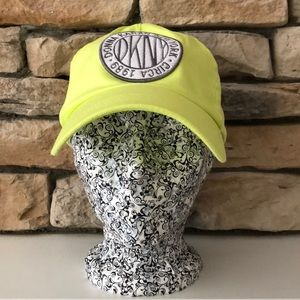 NWT DKNY Lime Green Baseball Cap Hat